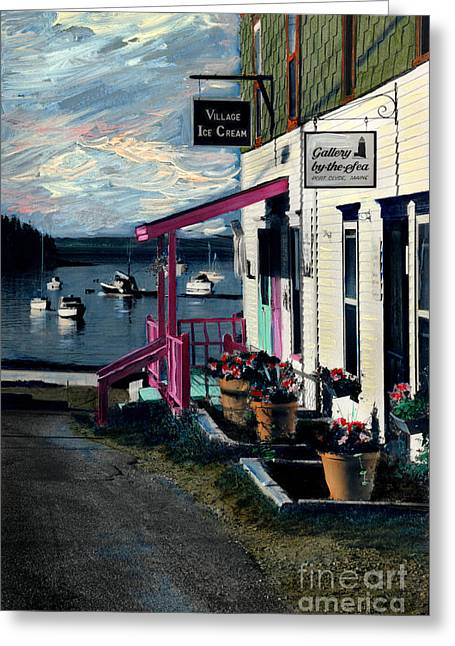 Port Clyde Main Street Greeting Card