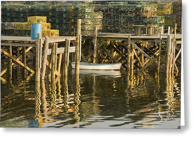 Port Clyde Maine Small Boat And Harbor Greeting Card
