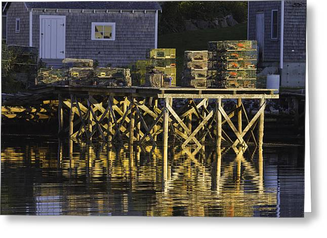 Port Clyde Pier On The Coast Of Maine Greeting Card by Keith Webber Jr