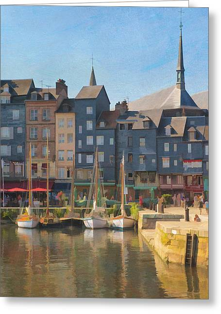 Port D'honfleur Greeting Card