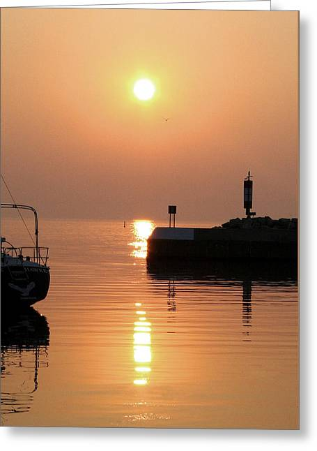 Greeting Card featuring the photograph Port Elgin by The Art Of Marilyn Ridoutt-Greene