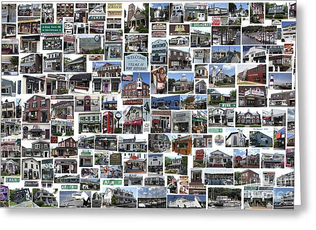 Port Jefferson Photo Collage Greeting Card