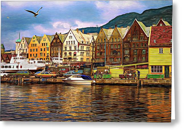 Port Life - Paint Greeting Card by Steve Harrington