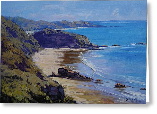 Port Macquarie Beach Greeting Card by Graham Gercken
