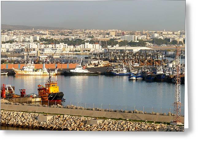 Port Of Agadir Morocco 1 Greeting Card