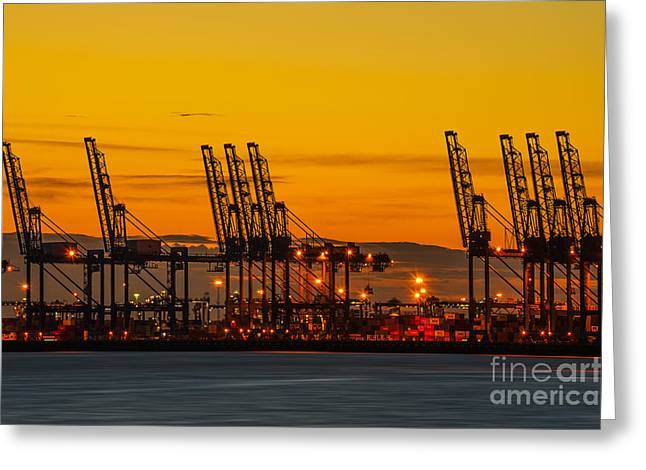 Port Of Felixstowe Greeting Card by Svetlana Sewell