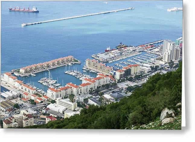 Port Of Gibraltar Greeting Card by Photostock-israel