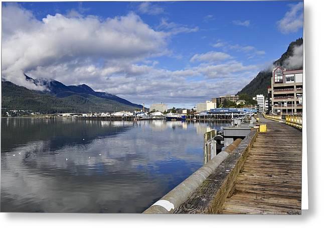 Port Of Juneau Greeting Card by Cathy Mahnke
