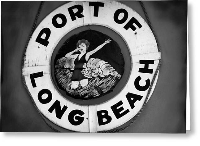 Port Of Long Beach Life Saver By Denise Dube Greeting Card