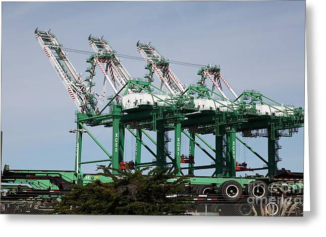 Port Of Oakland 5d22265 Greeting Card by Wingsdomain Art and Photography