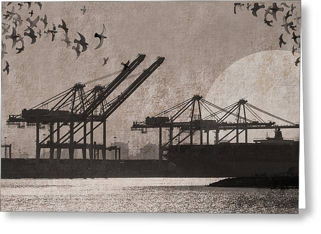 Port Of Oakland Greeting Card