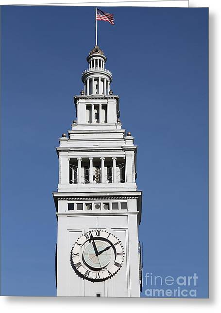 Port Of San Francisco Ferry Building On The Embarcadero - 5d20757 Greeting Card by Wingsdomain Art and Photography