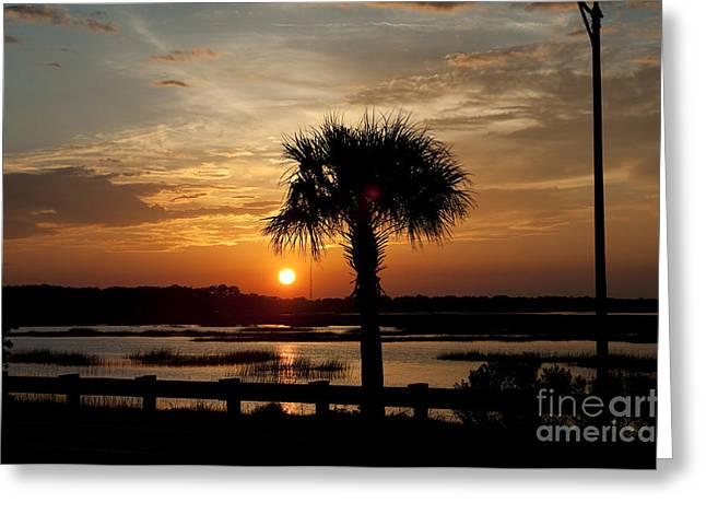 Port Royal Sunset Greeting Card