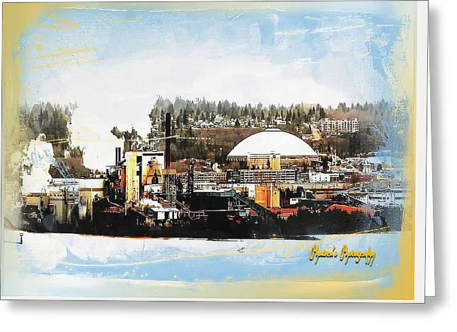 Port Tacoma Dome Greeting Card by Sadie Reneau