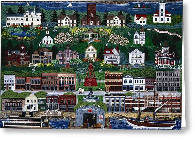 Greeting Card featuring the painting Port Townsend by Jennifer Lake