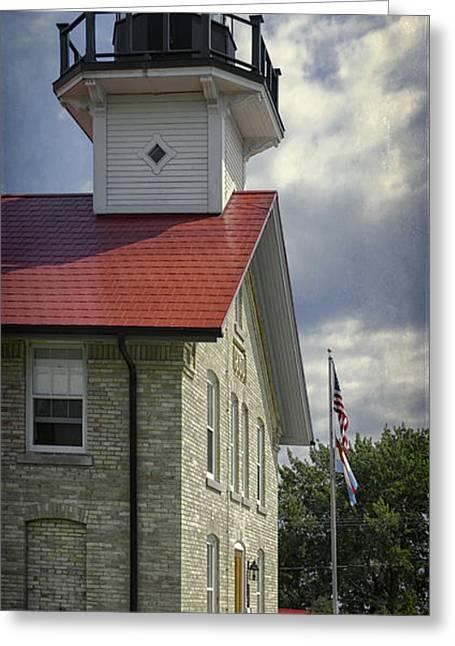 Port Washington Light Station Greeting Card by Joan Carroll