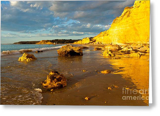 Port Willunga Beach Greeting Card