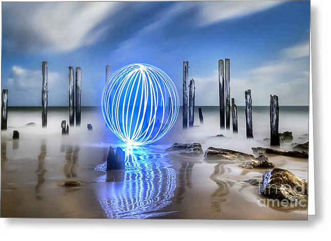 Port Willunga Orb Greeting Card by Shannon Rogers