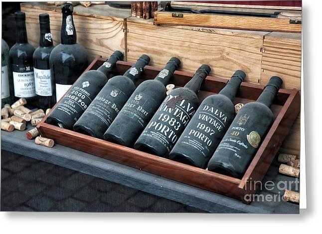 Port Wine Greeting Card by John Rizzuto