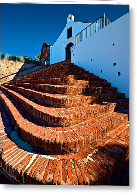 Porta Coeli Steps Greeting Card