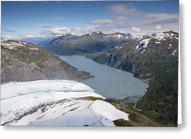 Portage Lake In The Summer Greeting Card