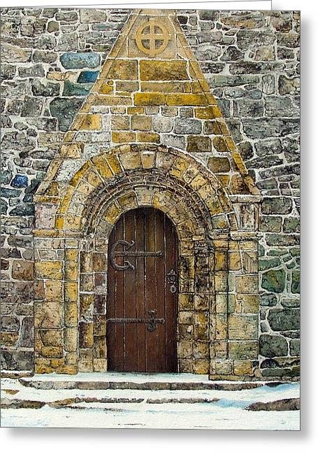 Portal Of St. Lachtain Greeting Card by John Walsh