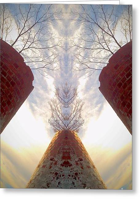 Greeting Card featuring the photograph Portal Of The Silos by Karen Newell
