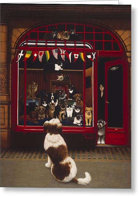 Portal Pet Show, 1993 Oils & Tempera On Panel Greeting Card