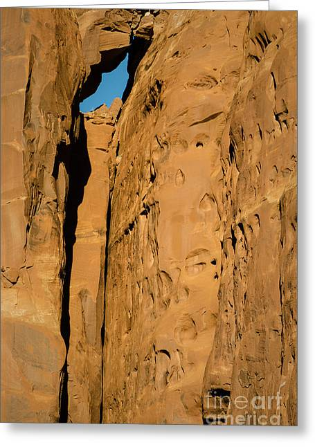 Greeting Card featuring the photograph Portal Through Stone by Jeff Kolker