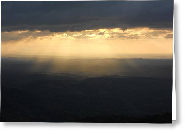 Portal To Heaven On The Blue Ridge Parkway Greeting Card