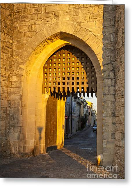 Portcullis Aigues-mortes  Languedoc-roussillon France Greeting Card
