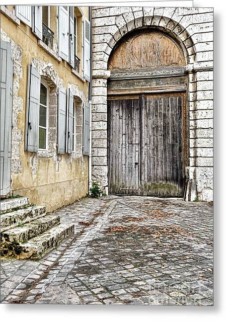 Porte Cochere Greeting Card by Olivier Le Queinec