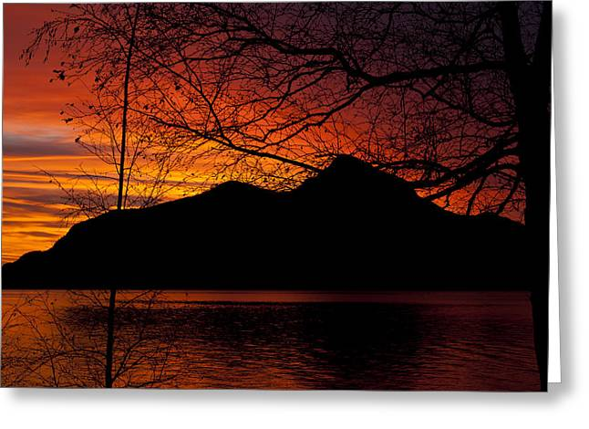 Porteau Cove Sunset Revisited Greeting Card by Monte Arnold