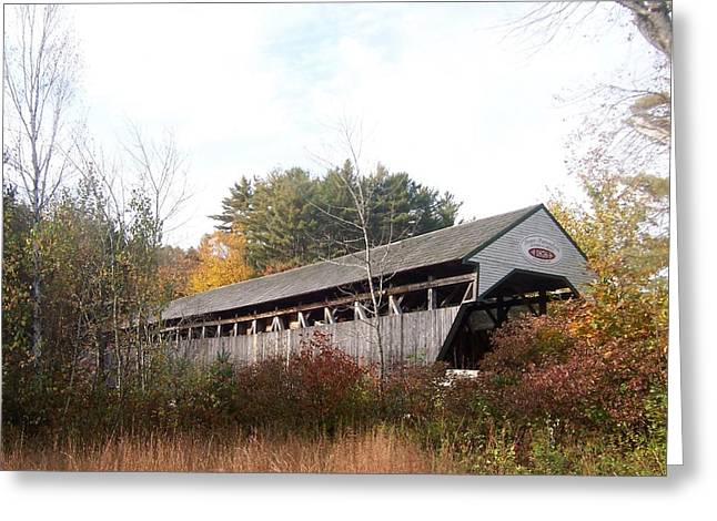 Porter Covered Bridge Greeting Card by Catherine Gagne