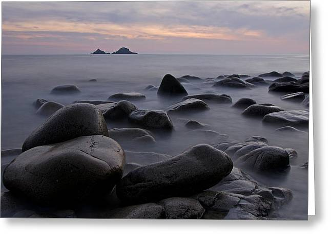 Porth Nanven In Cornwall Greeting Card