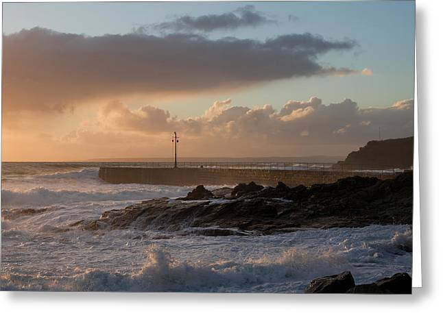 Porthleven In Cornwall Greeting Card