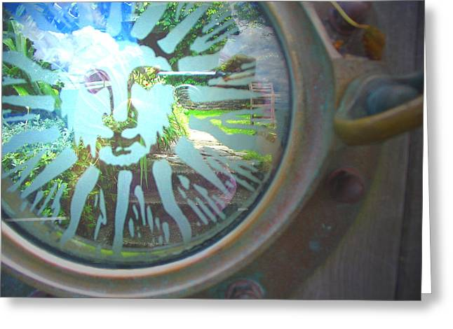 Porthole To The Secret Garden Greeting Card