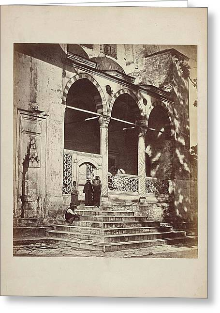 Portico Van De Suleymaniye-moskee In Istanbul Constantinopel Greeting Card by Artokoloro