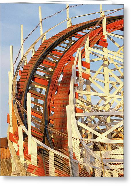 Portion Of Rollercoaster Greeting Card