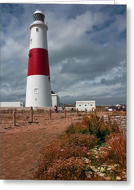Portland Bill Lighthouse Greeting Card by Shirley Mitchell
