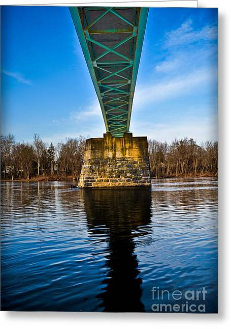 Portland-columbia Pedestrian Bridge Greeting Card by Gary Keesler