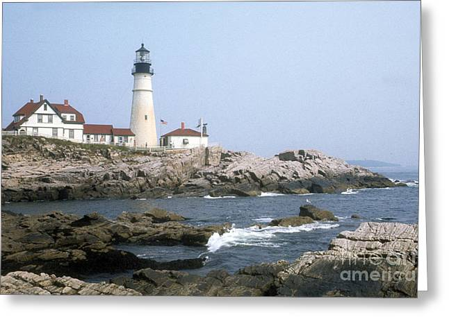 Portland Head Light Greeting Card by ELDavis Photography