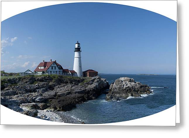 Portland Head Light House Greeting Card by Daniel Hebard