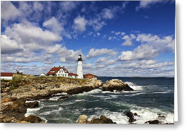 Portland Head Light Seascape Greeting Card