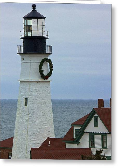 Greeting Card featuring the photograph Portland Head Lighthouse by Amazing Jules