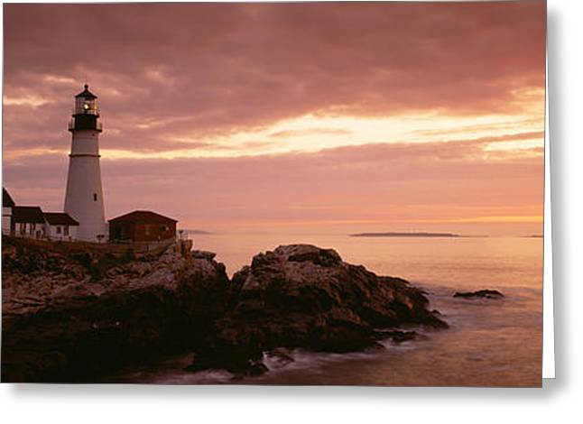 Portland Head Lighthouse, Cape Greeting Card by Panoramic Images