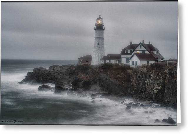 Portland Head Nor'easter Greeting Card