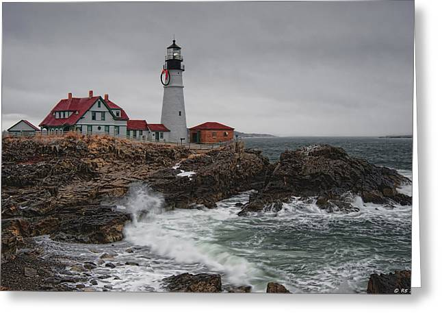 Portland Headlight @ Christmas Greeting Card