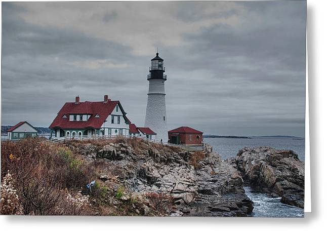 Portland Headlight 14456 Greeting Card