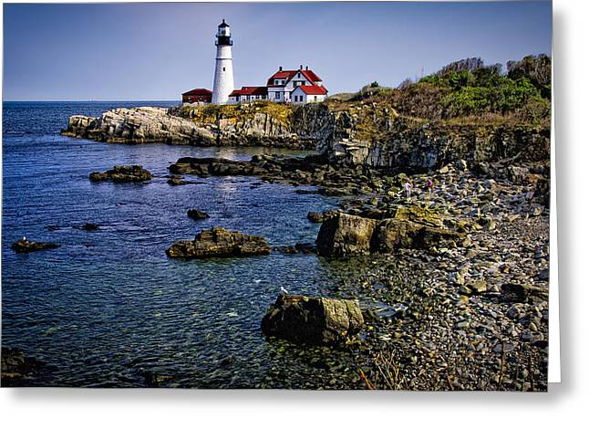 Portland Headlight 36 Greeting Card